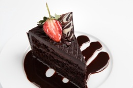 The ever popular chocolate truffle ~ moist chocolate heavy sponge filled with semi sweet chocolate ganache.
