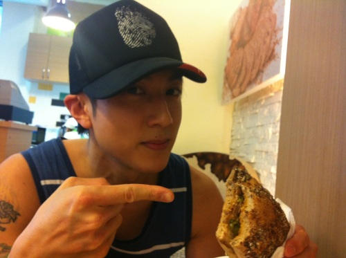 Brought Wu Chun our top selling Mexican Chicken panini sandwich on this afternoon meeting. He
