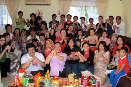 Group photo taken at my kampong house at Sg Liang on the first day of CNY.